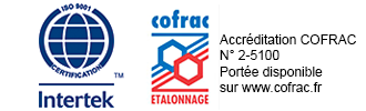 Certification ISO 9001 COFRAC